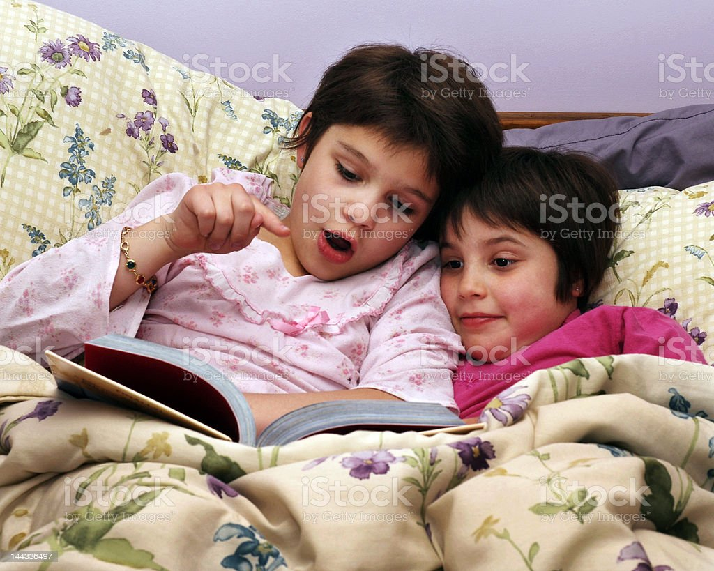 Exciting Bedtime Story royalty-free stock photo