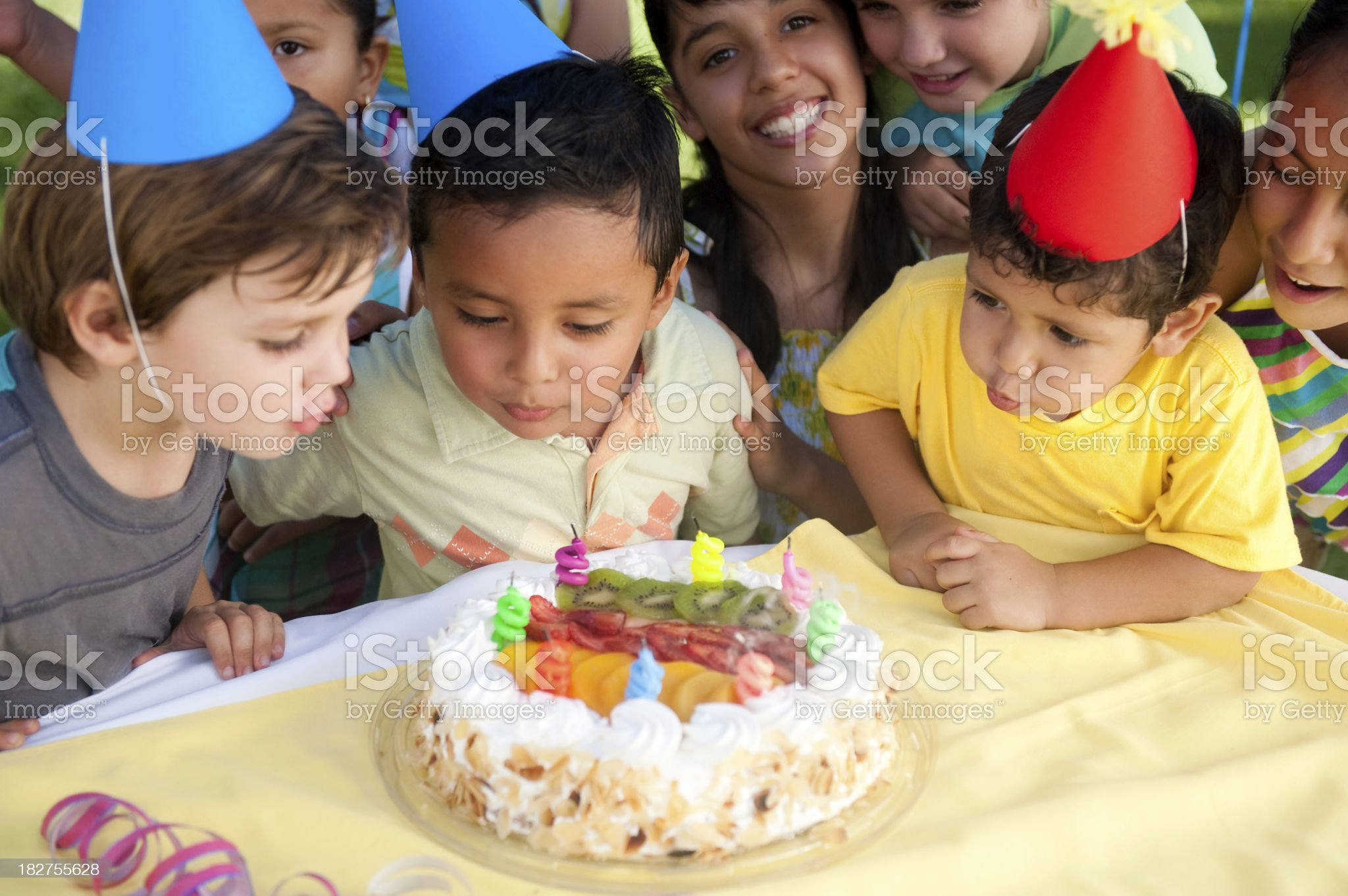 Exciting birthday party royalty-free stock photo