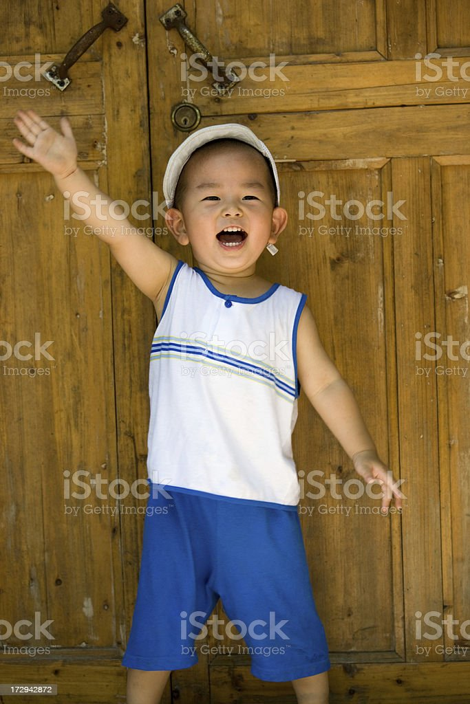 Exciting  Boy royalty-free stock photo