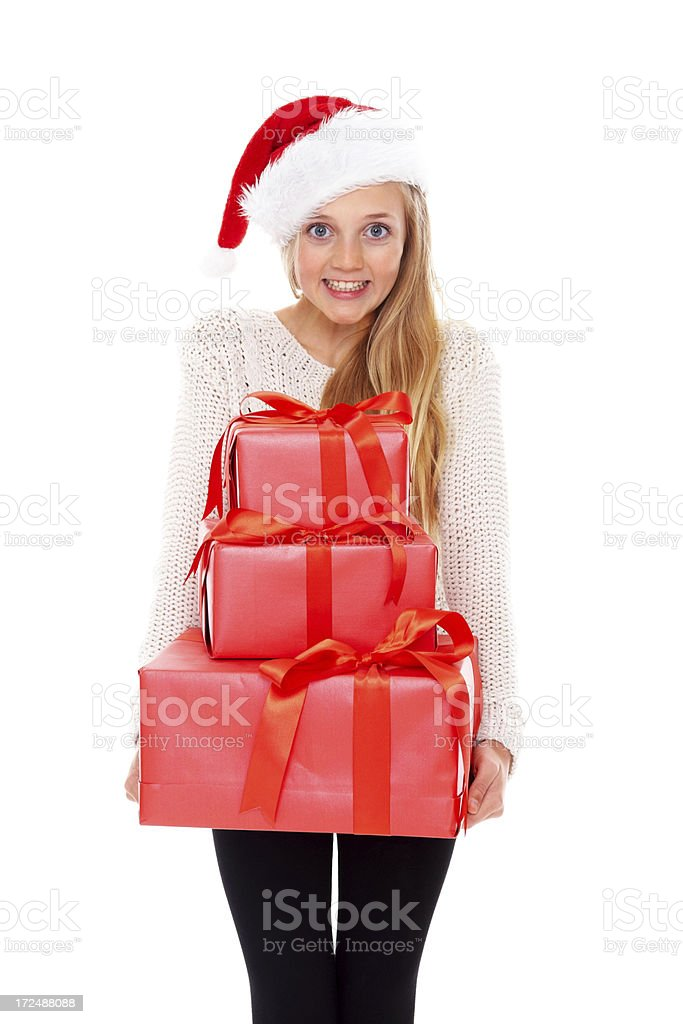 Exciting gifts for Christmas royalty-free stock photo