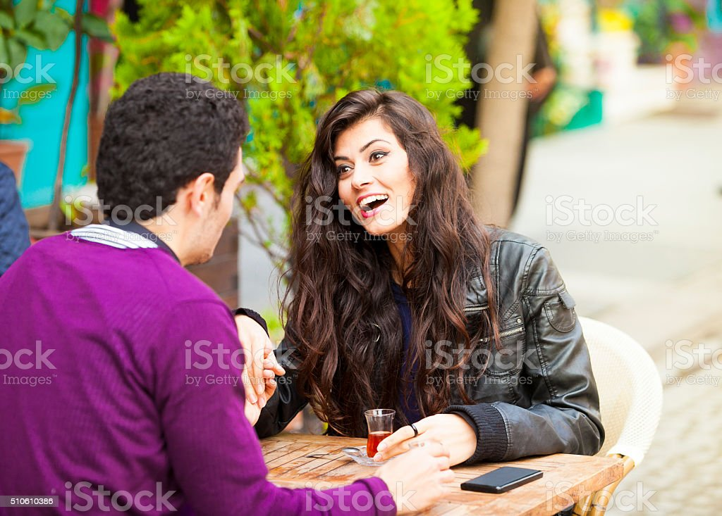 Exciting News from a Boyfriend stock photo