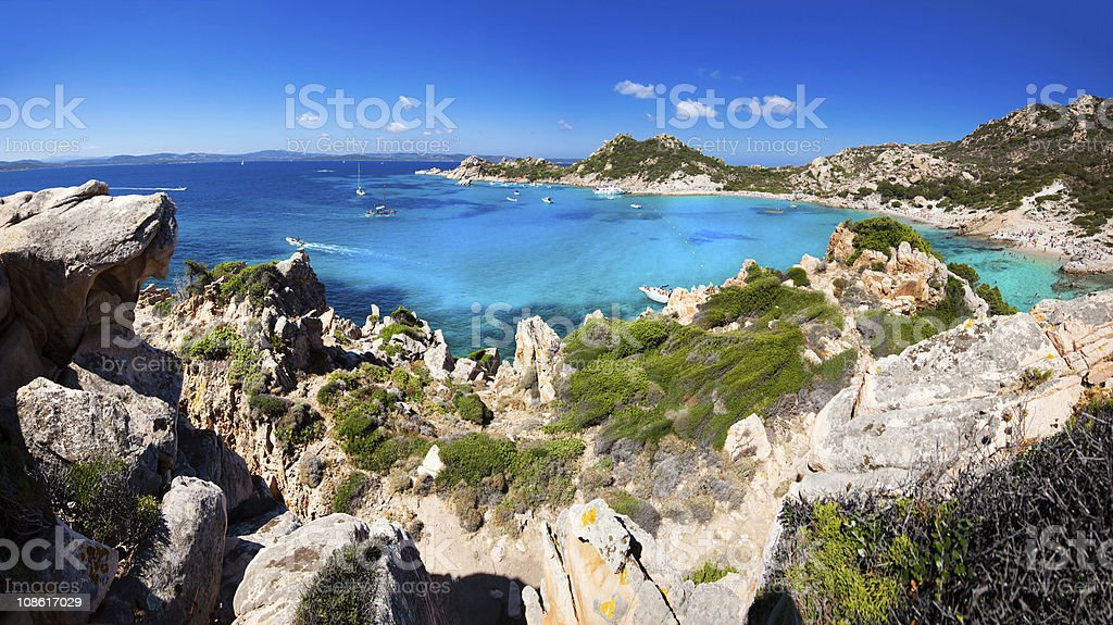 Exciting View of Spargi Isle - Sardinia stock photo