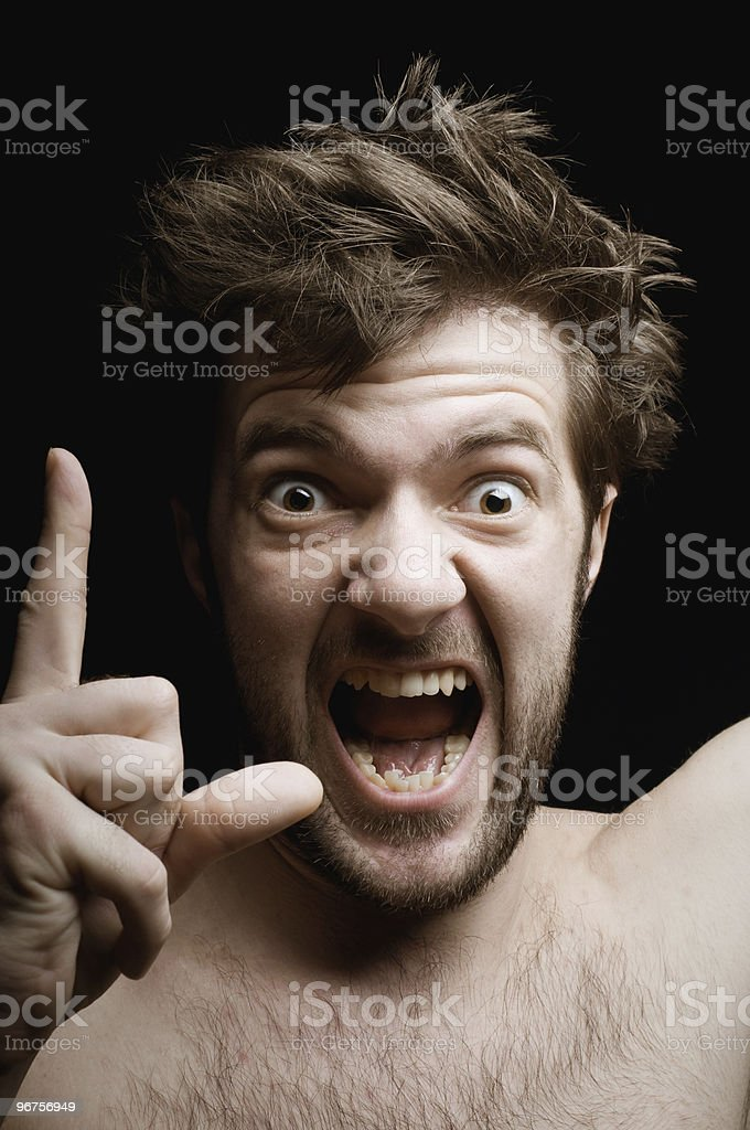 Exclaims the man royalty-free stock photo
