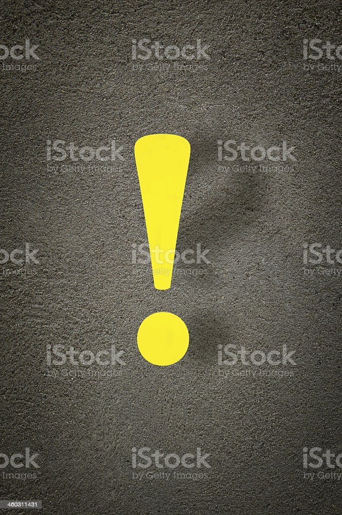 Exclamation and a question mark. stock photo