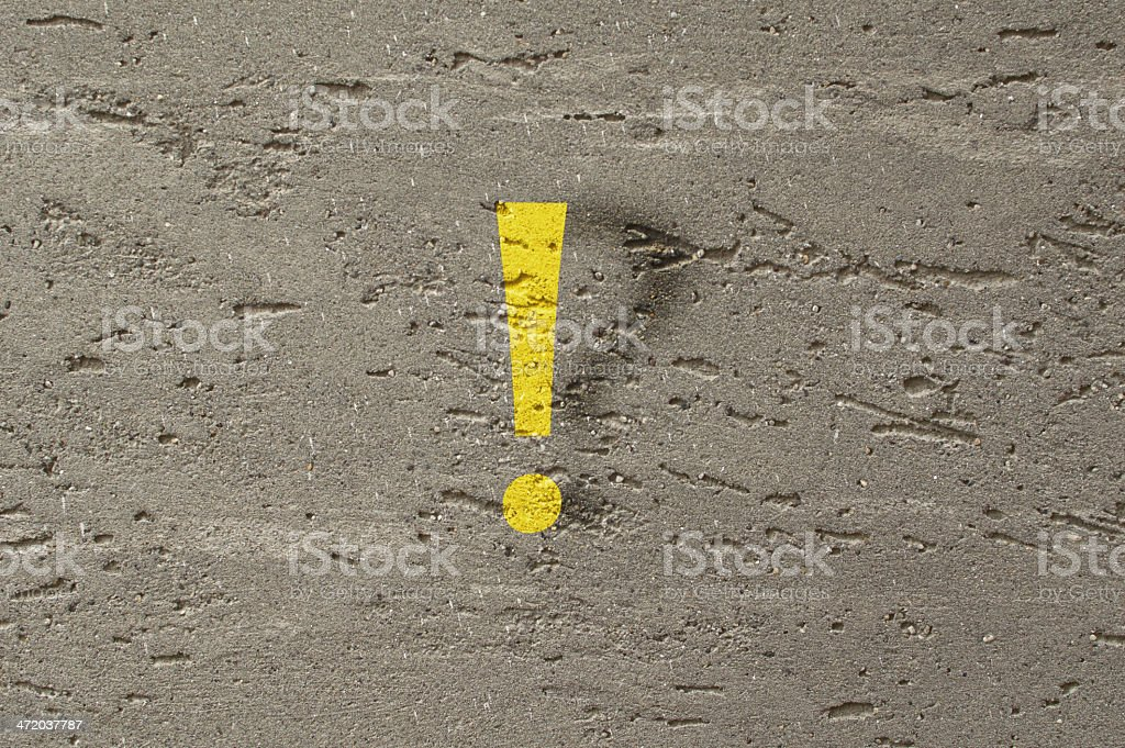 Exclamation and a question mark stock photo