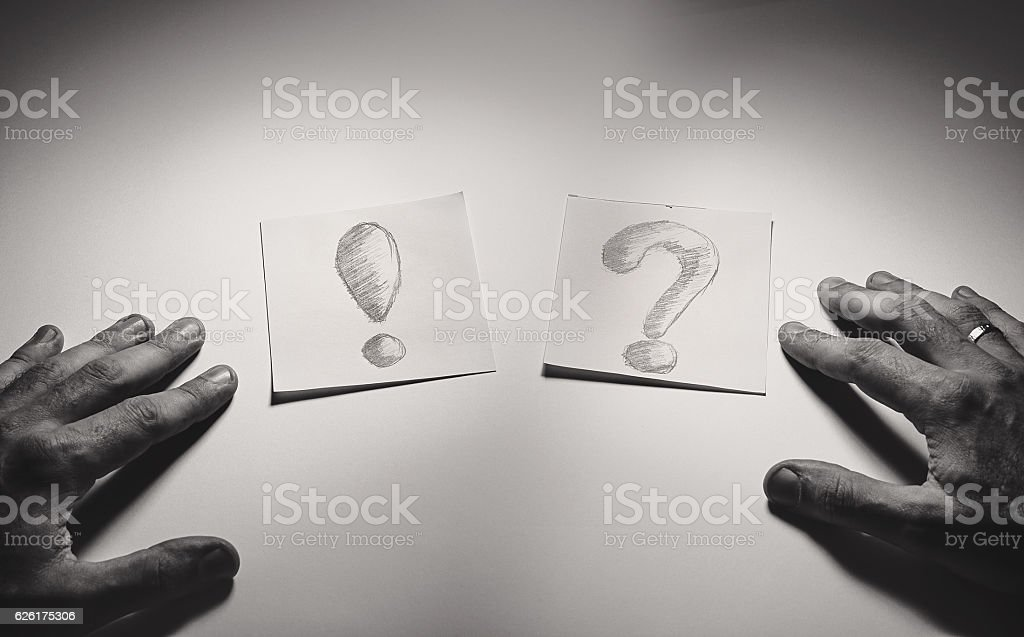Exclamation and Question stock photo