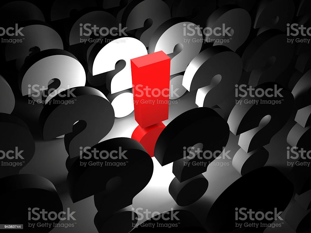 exclamation and question symbols royalty-free stock photo