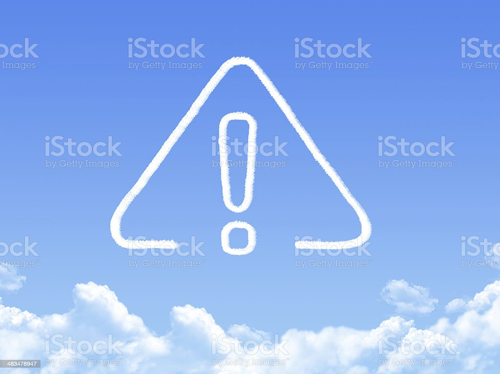 exclamation cloud shape stock photo