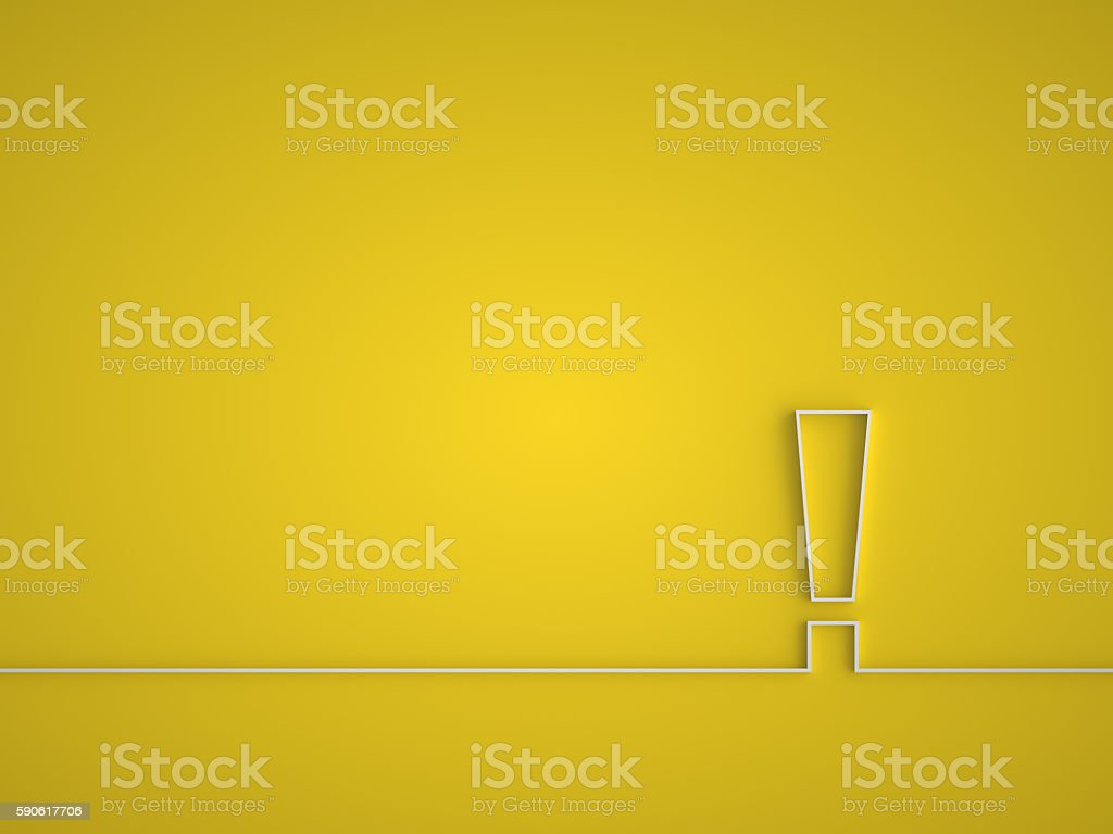 Exclamation mark icon. stock photo