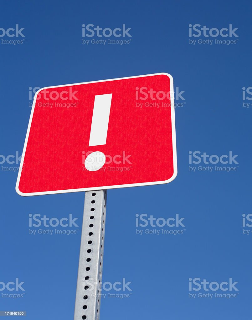 exclamation mark sign royalty-free stock photo