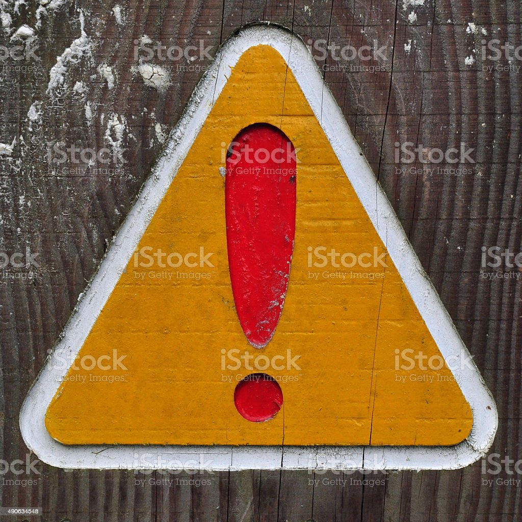 Exclamation stock photo
