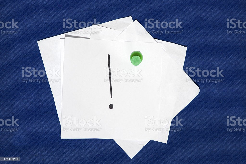 Exclamation Point royalty-free stock photo