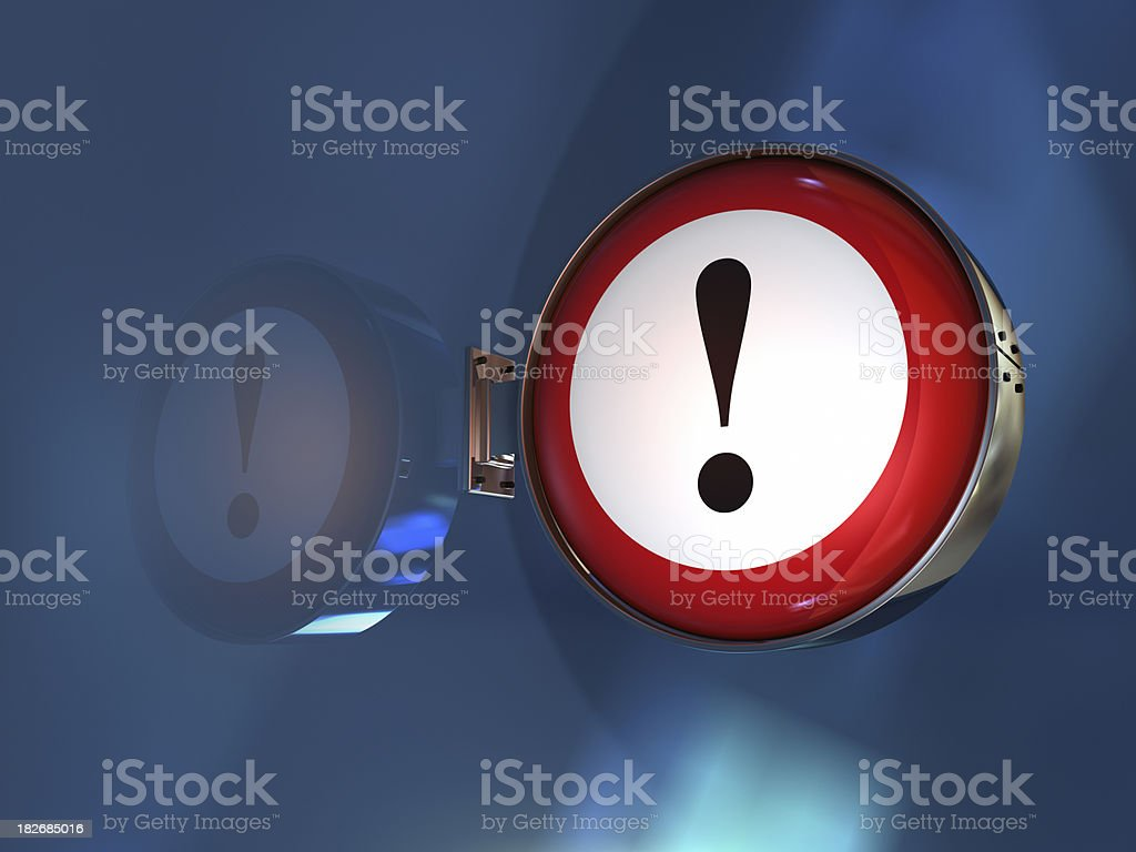 exclamation point sign royalty-free stock photo