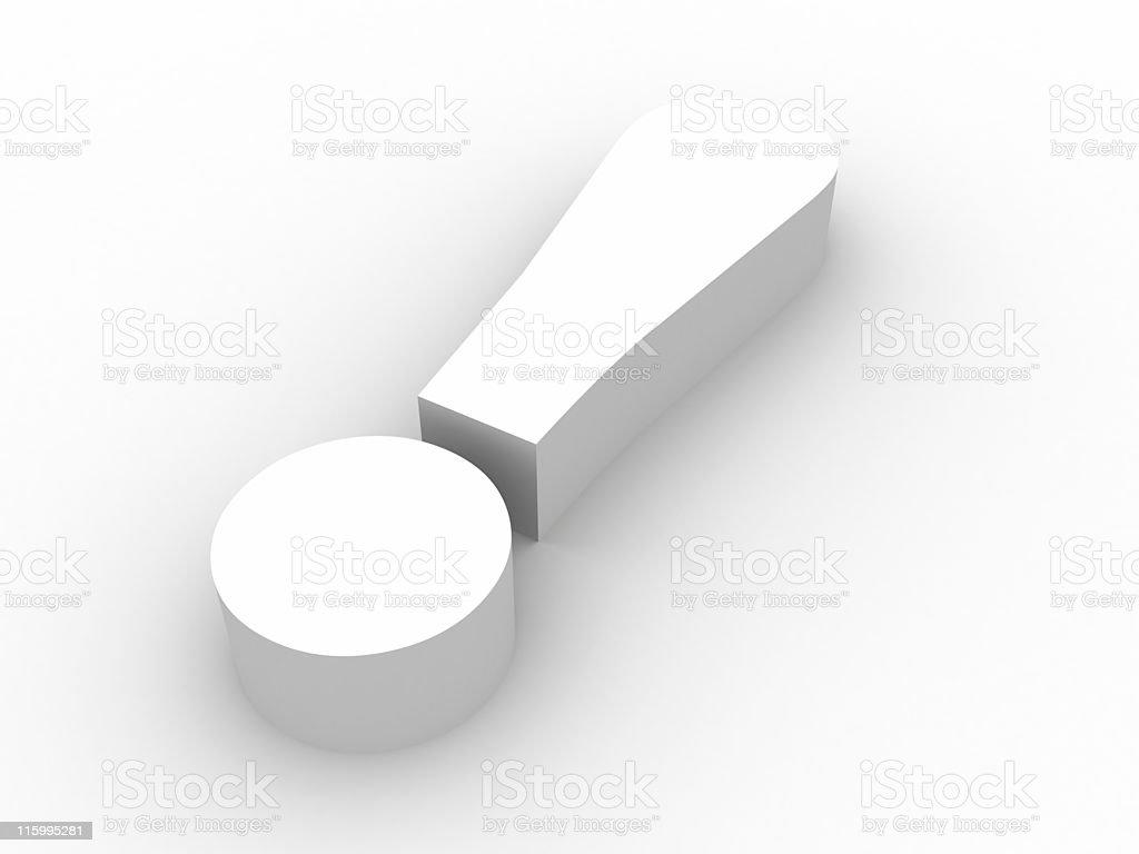 Exclamation symbol stock photo