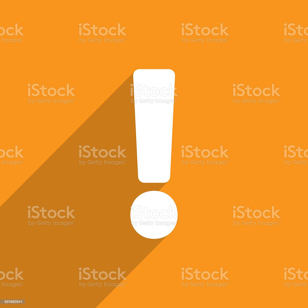 Exclamation web icon background stock photo