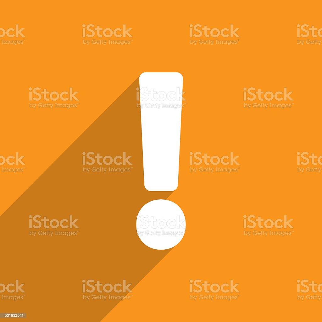 Exclamation web icon background stock photo