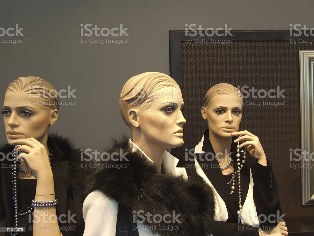 Exclusive dummy triplets royalty-free stock photo