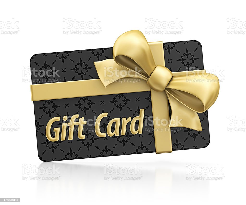 exclusive gift card stock photo