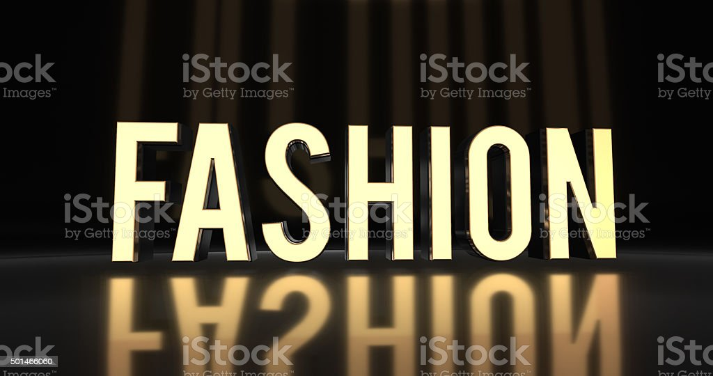 Exclusive High Fashion Concept in 3D Text Luxury Design stock photo