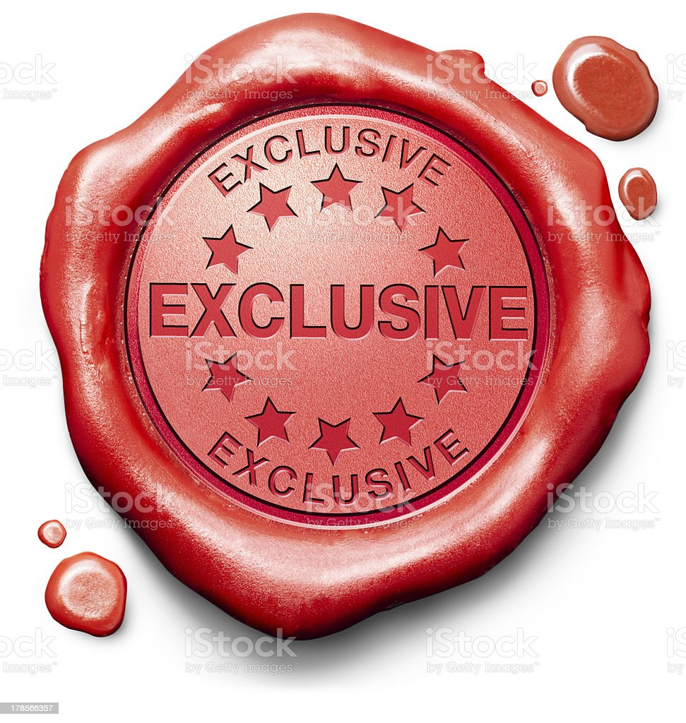 exclusive offer royalty-free stock photo