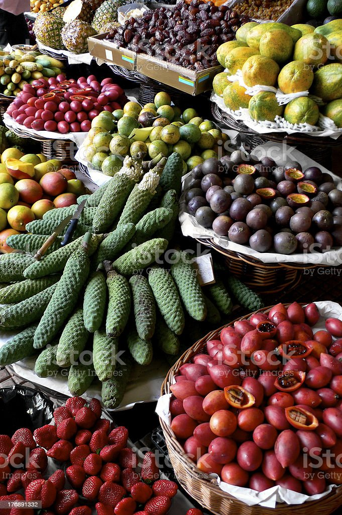 excotic fruits stock photo