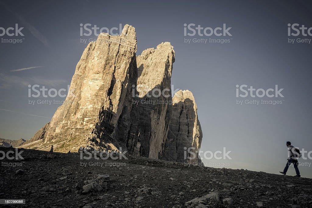 Excursion to the Three Peaks royalty-free stock photo
