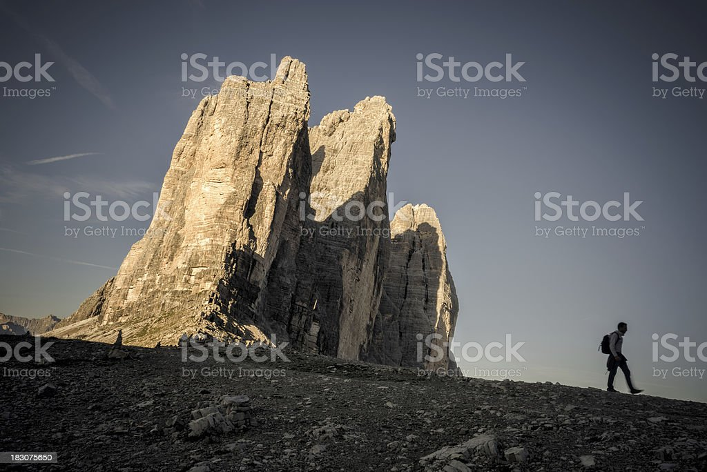 Excursion to the Three Peaks royalty-free stock photo