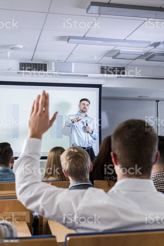 Excuse me, I have a question stock photo