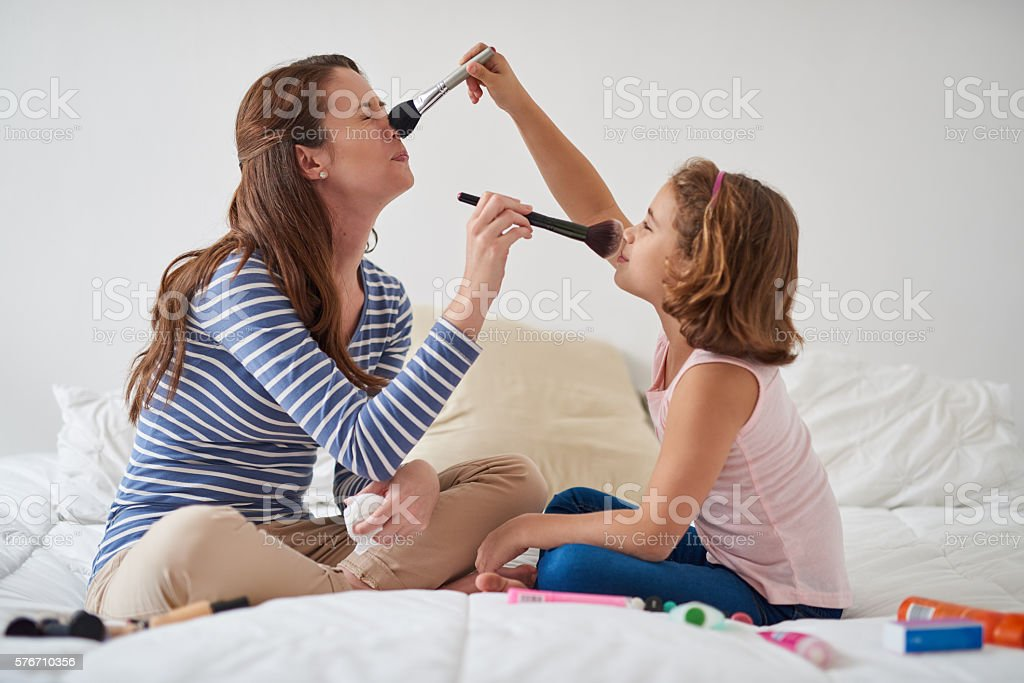 Excuse me while I powder your nose! stock photo
