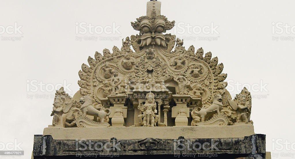 Excusite Stone carving stock photo