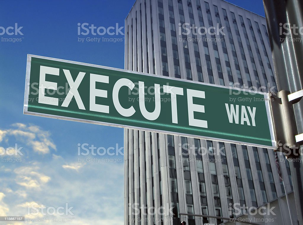 Execute Street Name Sign royalty-free stock photo
