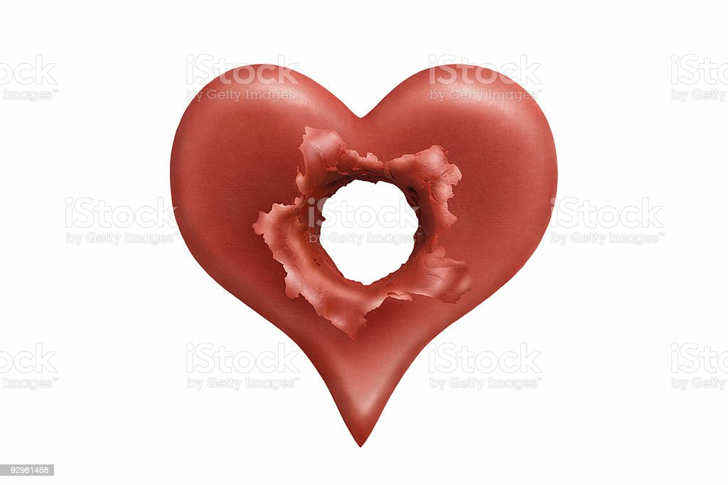 Executed heart royalty-free stock photo