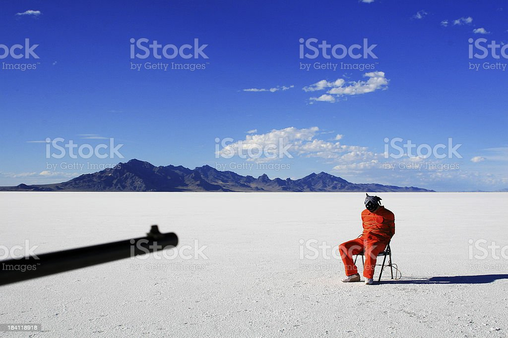 Execution by Firing Squad stock photo