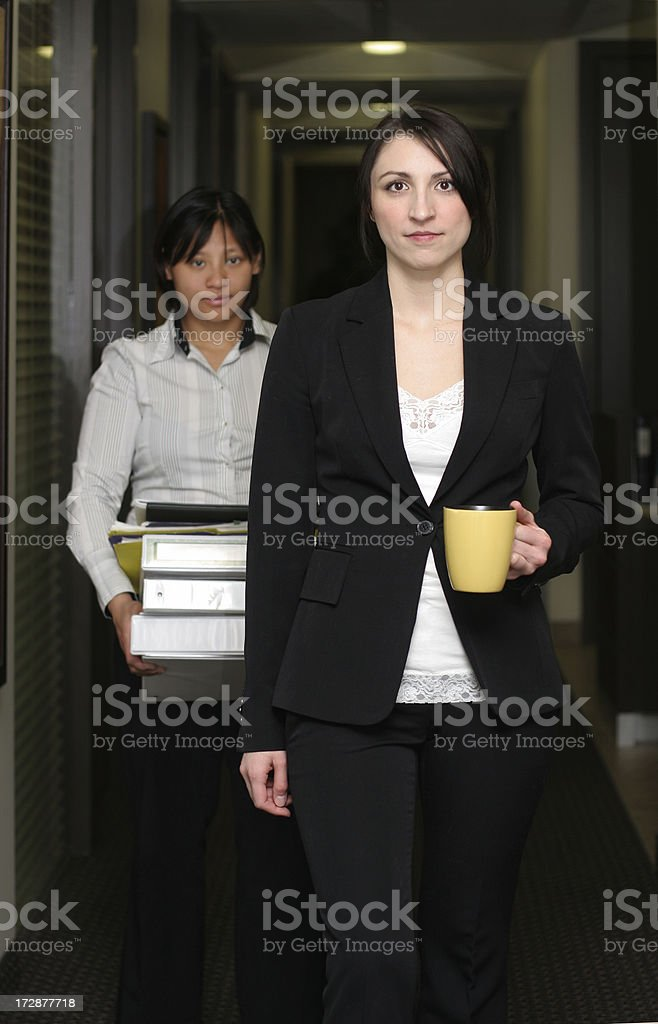 Executive and Assistant royalty-free stock photo
