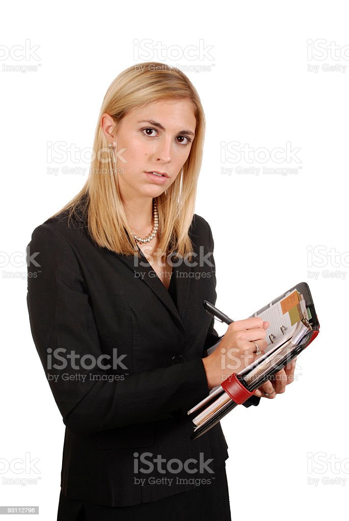 Executive Assitant taking notes stock photo