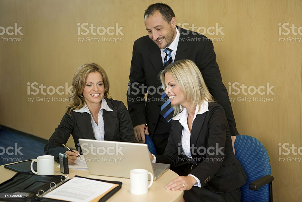 Executive Business Team At Work royalty-free stock photo