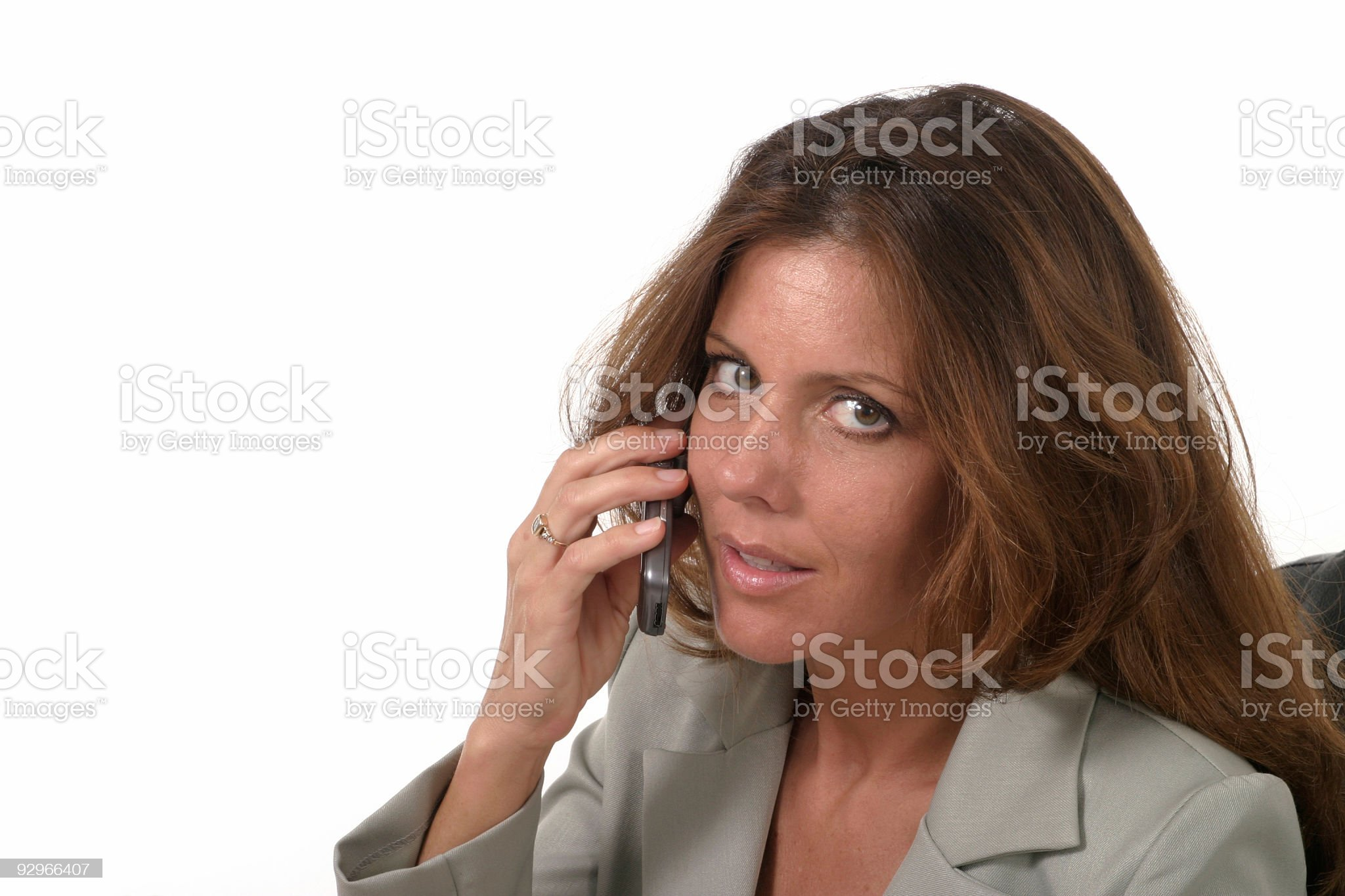 Executive Business Woman with Cellphone royalty-free stock photo