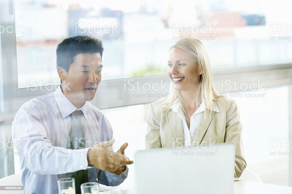 Executive explains plans royalty-free stock photo