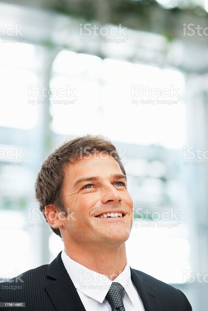 Executive happy about future prospects stock photo