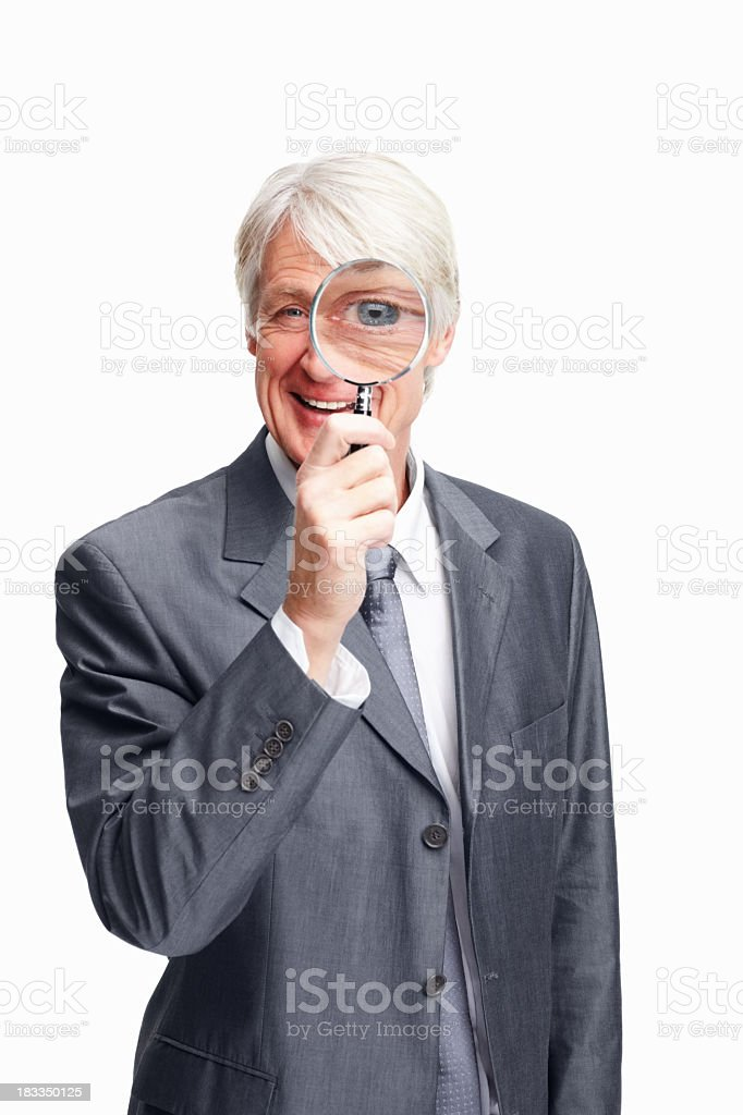 Executive happy with his discovery royalty-free stock photo