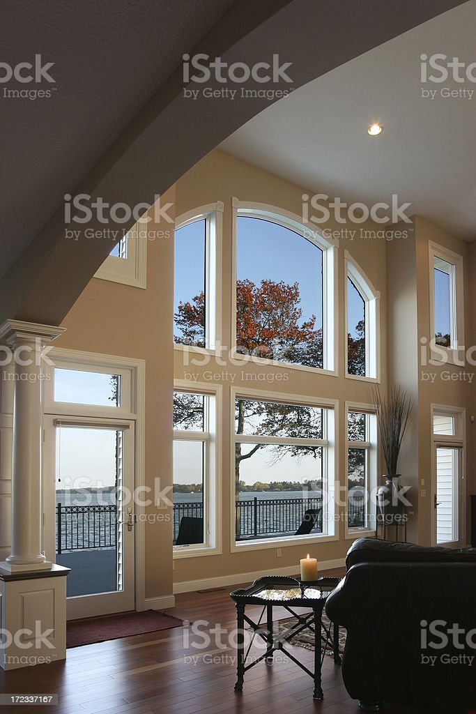 Executive Home Great Room royalty-free stock photo
