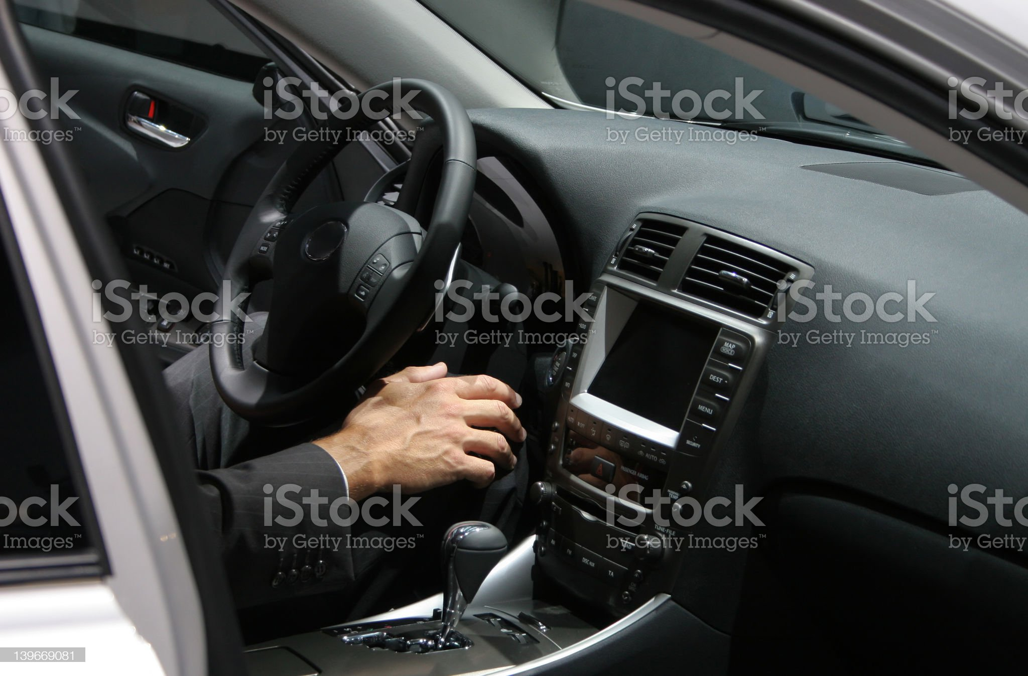 executive in a car royalty-free stock photo