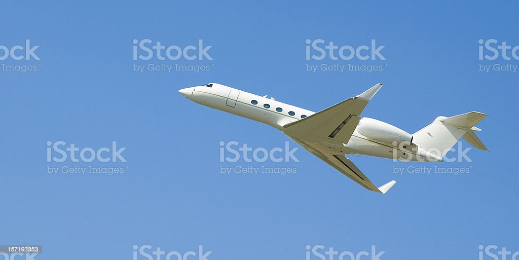 Executive jet royalty-free stock photo