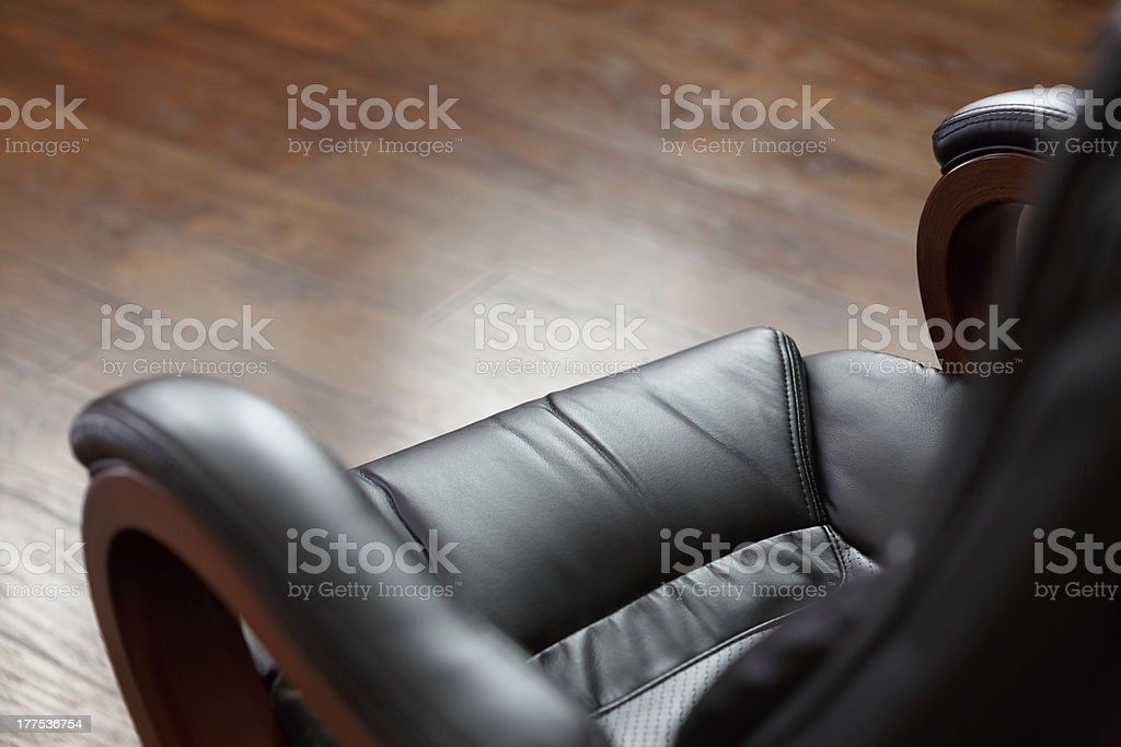 Executive leather chair royalty-free stock photo