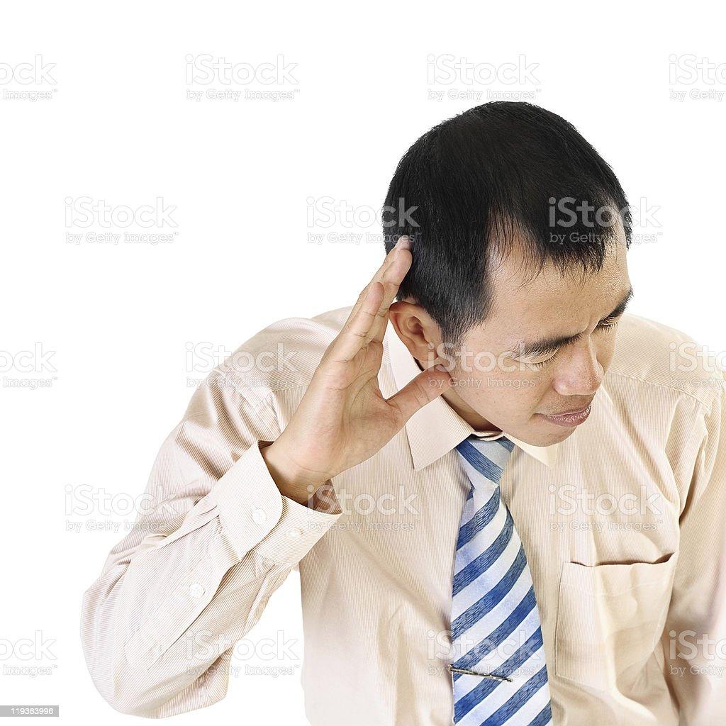 Executive listening royalty-free stock photo