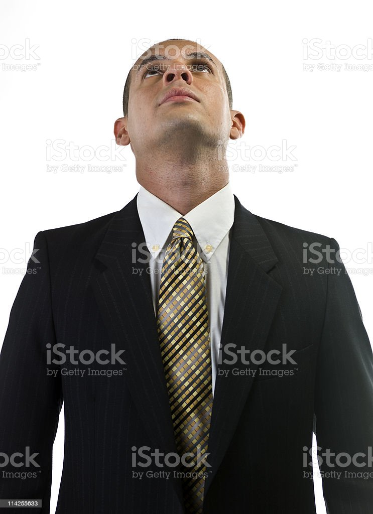 Executive looking up royalty-free stock photo