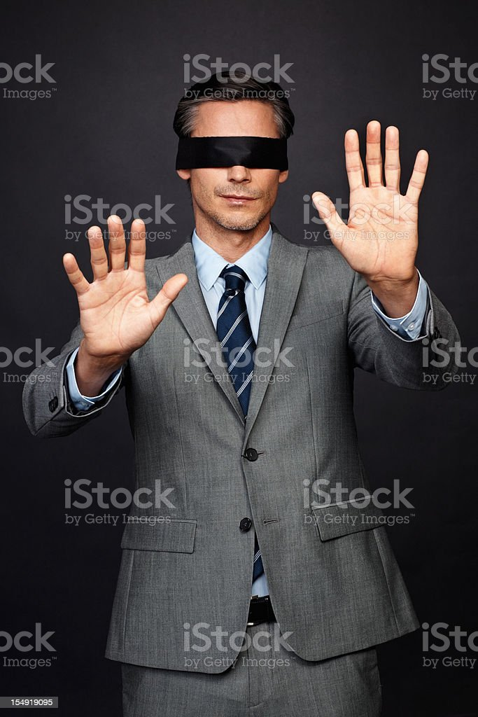 Executive lost in corporate world royalty-free stock photo