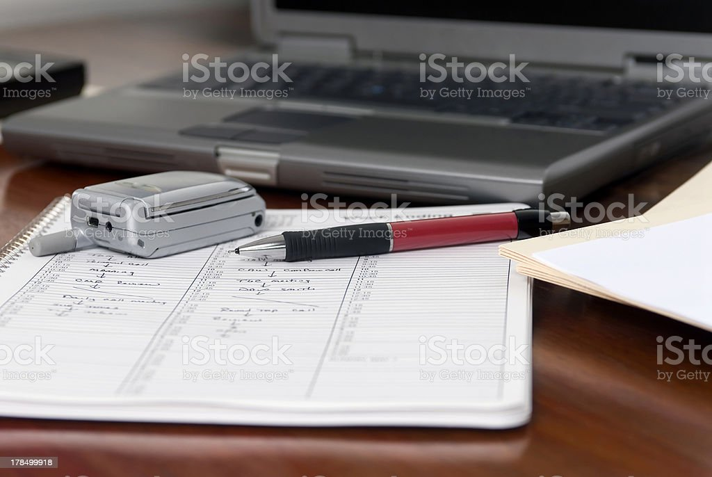 Executive Mobile Desktop royalty-free stock photo