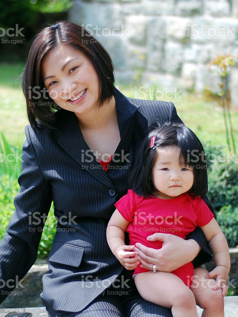 Executive mother and daughter royalty-free stock photo