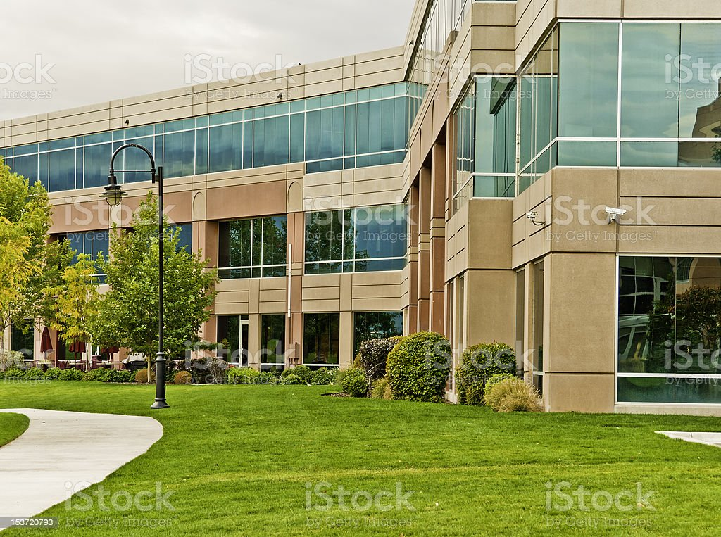 Executive office building with many windows royalty-free stock photo
